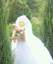 свадебное платье в отличном состоянии ,  размер 48